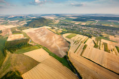 Aerial view of agricultural fields Royalty Free Stock Photo