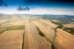 Aerial view of agricultural fields Royalty Free Stock Image