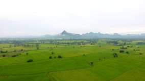 Aerial view of agricultural land in the Thailand Stock Image