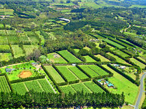 Aerial View of Agriculture near Paihia, New Zealan Royalty Free Stock Image
