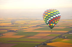 Aerial view at air balloon with landscape Royalty Free Stock Photo
