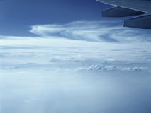 Aerial view from aircraft window. Royalty Free Stock Image