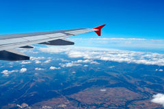 Aerial view from airplane Royalty Free Stock Image