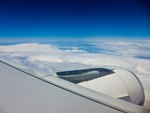 Aerial view from airplane Royalty Free Stock Photos