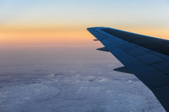 Aerial view from an airplane Stock Photo