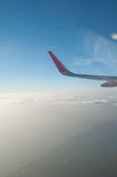 Aerial view from an airplane Royalty Free Stock Image