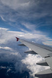 Aerial view from an airplane Stock Photos