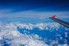 An aerial view from an airplane Royalty Free Stock Photos