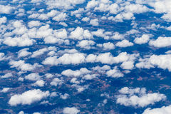 Aerial view from airplane Royalty Free Stock Photography