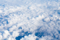 Aerial view from airplane Stock Photo