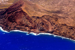 Aerial view from airplane of La Palma Stock Photo