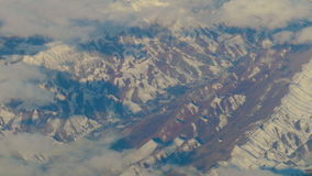 Aerial view from airplane over the mountains of Iran stock video
