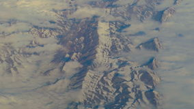 Aerial view from airplane over the mountains of Iran stock footage