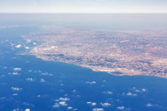 Aerial view from airplane of Paphos, Cyprus Stock Photos
