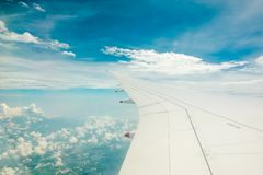 Aerial view from airplane window. royalty free stock image