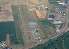 Aerial view of airport Royalty Free Stock Photography
