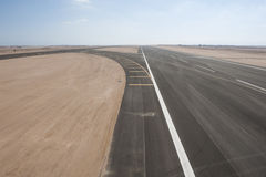 Aerial view of an airport runway Stock Images