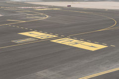 Aerial view of an airport runway Royalty Free Stock Images