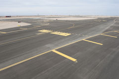 Aerial view of an airport runway Royalty Free Stock Photography