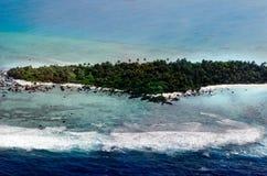 Aerial view of Aitutaki Lagoon Cook Islands Royalty Free Stock Image