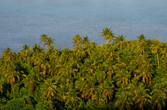 Aerial view of Aitutaki Lagoon Cook Islands Stock Photos