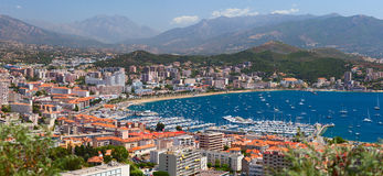 Aerial view of Ajaccio city. Corsica, France Royalty Free Stock Photo