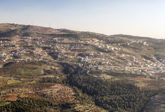 Aerial view of ajlun Stock Image