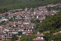 Aerial view of Akyaka.  Mugla Province in southwestern Turkey. Stock Photos