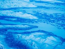 Aerial view of an Alaska National Park royalty free stock image