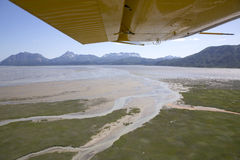 Aerial view of alaskan wilderness. From a small airplane Stock Photos