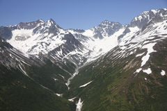 Aerial view of alaskan wilderness. From a small airplane Stock Images