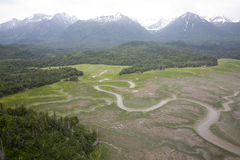 Aerial view of alaskan wilderness Royalty Free Stock Photo