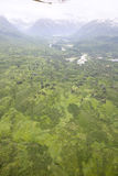 Aerial view of alaskan wilderness. From a small airplane Stock Photography