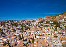Aerial view of Albaicin, Granada Stock Image