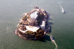 Aerial view of Alcatraz Stock Photo
