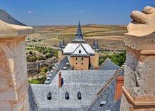 Castle Alcazar of Segovia, Spain. Aerial view of Alcazar Castle in Segovia, Spain Royalty Free Stock Image