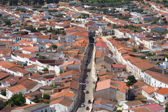 Aerial view of Alconchel, Spain Royalty Free Stock Image