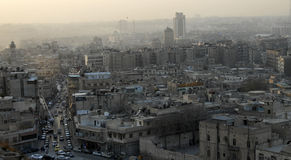 Aerial view of Aleppo city Stock Photos