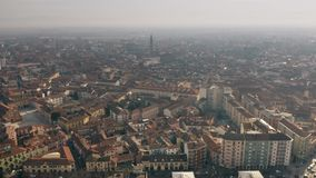 Aerial view of Alessandria. Piedmont, Italy. Aerial view of Alessandria, Italy stock video footage