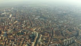 Aerial view of Alessandria, Italy royalty free stock image