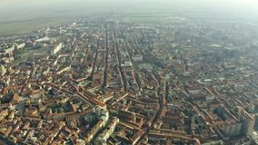 Aerial view of Alessandria, Italy. Aerial shot of Alessandria, Italy stock footage