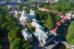 Aerial view of the Alexander Nevsky Lavra on a sunny May day. Saint-Petersburg, Russia. Aerial view of the Alexander Nevsky Lavra on a sunny May day. Saint Royalty Free Stock Photography
