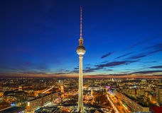 Aerial view on Alexanderplatz in Berlin Stock Photography