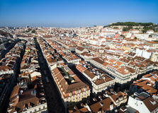 Aerial View of Alfama, Lisbon, Portugal Royalty Free Stock Photos