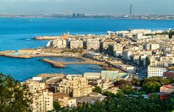 Aerial view of Algiers, the capital of Algeria. North Africa royalty free stock image