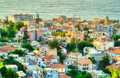 Aerial view of Algiers, the capital of Algeria. North Africa royalty free stock images