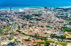 Aerial view of Algiers, the capital of Algeria. North Africa stock images