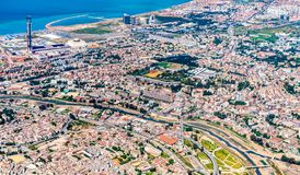 Aerial view of Algiers, the capital of Algeria. North Africa royalty free stock photography