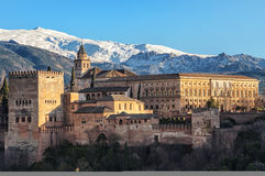 Aerial view of Alhambra Palace in Granada Stock Photography