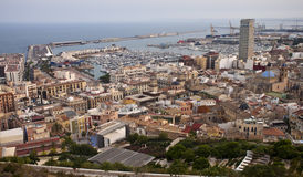 Aerial view of Alicante Royalty Free Stock Photography